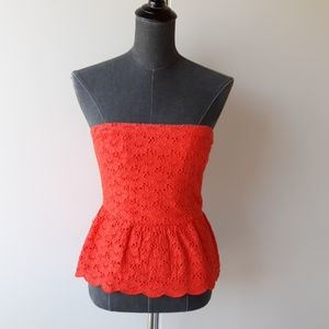 Abercrombie and Fitch red strapless top